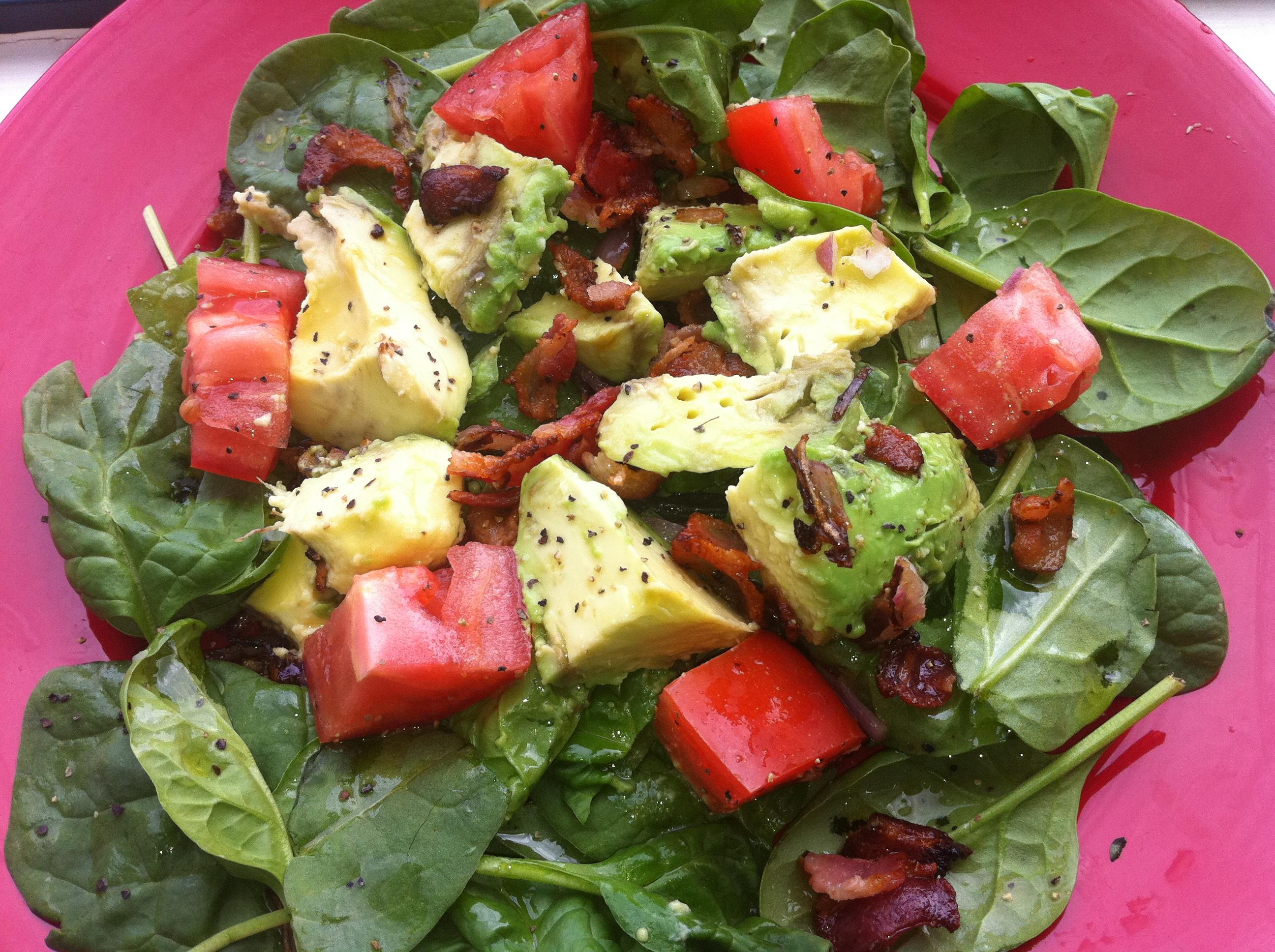 Zesty cobb salad w spinach bacon avocado healthy diabetic i forumfinder Gallery