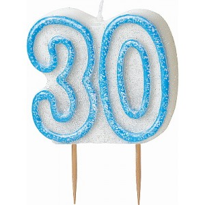 30th-birthday-candle-blue-glitz